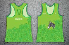 "#konoczaspi Women's sports KONOCZASPI tank tops with illustration. GREEN with PATTERN ""florist"" + illustration DONKEY"