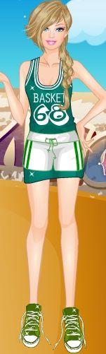 Basketçi Barbie sahaya inmeye hazırlanıyor fakat kendisine göre güzel bir elbise bulamıyor. Basketbol oynayabilmek için ona güzel bir kombin yapmlı uyumlu kıyafetler seçmelisiniz.  http://www.kolayoyun.com/basketci-barbie.html