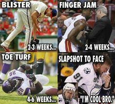 Hockey players. Nothing will stop them.