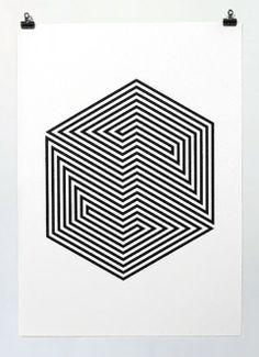 Screen print by Yann Brien