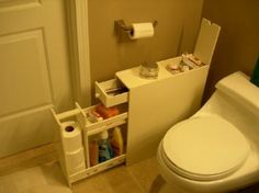 """Amazon.com: Brighton Bathroom Cabinet (White) (19.75""""H x 6.25""""W x 22.75""""D): Home & Kitchen"""