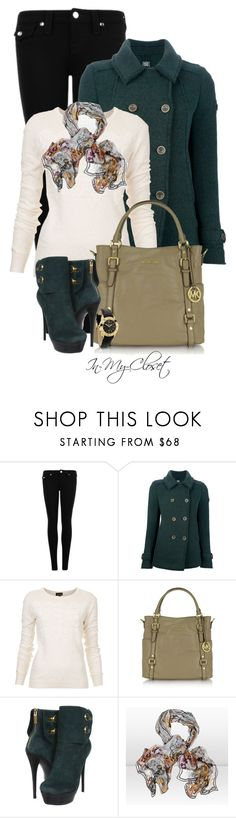 """Michael Kors Bedford Tote"" by in-my-closet ❤ liked on Polyvore featuring True Religion, Swiss Chriss, Topshop, Michael Kors, Rachel Zoe, Jimmy Choo and Pandora"