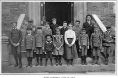 New York House of Reception (Children's Village), Inmates of the West Company, June 15, 1903.