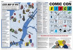 NYCC Comic Book Locations Map on Behance