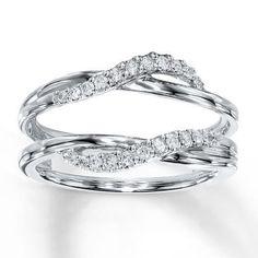 Crown Inspired Half Halo Wedding Ring Guard Enhancer 056 ct twt