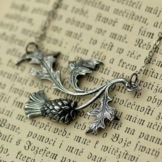 Silver Thistle by ragtrader on Etsy, $20.00