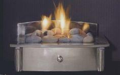 Zen Basket Hearth Fire Grate - Polished Steel finish