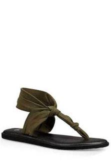 Sanuk Yoga Sling Ella Sandals in Dark Olive Sanuk Sandals, Sanuk Shoes, Sanuk Mens, Mens Flip Flops, Women's Fashion, Yoga, Dark, Disney, Travel