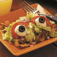 Eyeball Taco Salad Recipe-just for those fun days Kait
