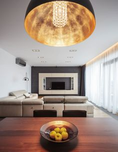 Two-Story Penthouse Apartment Boasting a Gorgeous Sophisticated Interior