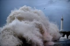 Seaburn. Winds could reach 60mph on the east coast.Picture: Owen Humphreys/PA