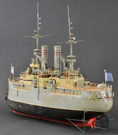 "Märklin Tin-Ships Battleship ""BROOKLYN"" series II, of this massive ship"