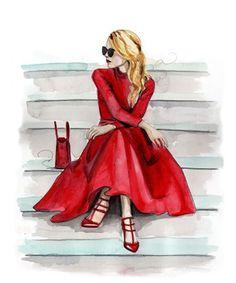 Гламурные модные эскизы и иллюстрации: лучшие 50