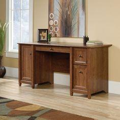 sauder edge water computer desk in auburn cherry sauder
