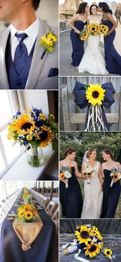 Marine blue and sunflower rustic country wedding ideas and sunflower wedding 10 Prettiest Blue Wedding Color Combos for 2018 & 2019 Wedding Bells, Fall Wedding, Dream Wedding, Trendy Wedding, Wedding Stuff, Wedding Tips, Wedding Reception, Wedding Photos, Elegant Wedding