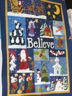 Little Quilt (guild block of the month) Cute wall Hanging for the Christmas Season