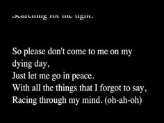 City and Colour - Body in a Box (lyrics) - YouTube