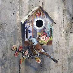 BIRDHOUSE MIHO UNESPECTED THINGS in Casa, Jardín y Bricolaje, Decoración para el hogar, Decoración de paredes   eBay