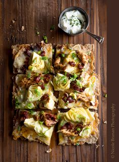 Sumac Chicken Lavash Pizza