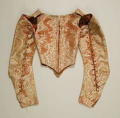 Bodice    Date:      17th century  Culture:      French  Medium:      silk  Dimensions:      [no dimensions available]  Credit Line:      Gift of Mr. Lee Simonson, 1939  Accession Number:      C.I.39.13.42
