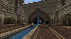 The plan was to build an underground city yet here we are thousands of blocks later and only the entrance has been finished : Minecraft Minecraft Kingdom, Minecraft Castle, Minecraft Medieval, Minecraft Plans, Minecraft Tutorial, Minecraft Blueprints, Minecraft Creations, Minecraft Crafts, Minecraft Designs