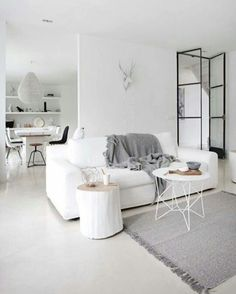 'Minimal Interior Design Inspiration' is a weekly showcase of some of the most perfectly minimal interior design examples that we've found around the web - all for you to use as inspiration.Previous post in the series: Minimal Interior Design Inspiration Living Room White, White Rooms, Home Living Room, Living Room Decor, Living Room Inspiration, Interior Design Inspiration, Design Ideas, Modul Sofa, White Couches