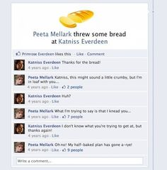 Lol haha funny pics / pictures / Hunger Games Humor / Peeta / Katniss / Facebook