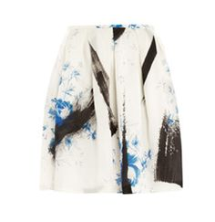Dutch-print princess mini skirt by Christopher Kane