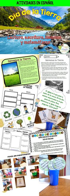 Earth Day Activities in Spanish (Dual language) Preschool Spanish, Spanish Activities, Spanish Classroom, Teaching Spanish, Writing Activities, Teaching Resources, Teaching Ideas, Classroom Ideas, Student Data Forms