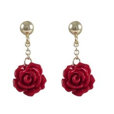 Shop for Luxiro Goldtone Sterling Silver Dangling Rose Earrings. Get free delivery On EVERYTHING* Overstock - Your Online Jewelry Destination! Clay Jewelry, Jewelry Shop, Custom Jewelry, Gemstone Jewelry, Beaded Jewelry, Silver Jewelry, Handmade Jewelry, Jewelry Design, Silver Rings