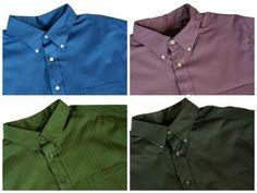 Roundtree & Yorke Big&Tall Man Pinstripe Shirt L/S Blue~Black~Green~Purple~Navy
