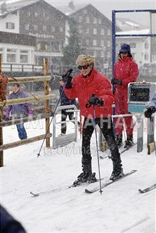 Princess Diana 1994 - in Lech am Arlberg, Austria...