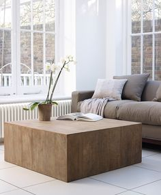 ♂ Neutral interior design Manado Square Wooden Coffee Tables from Lombok