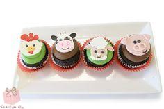 Farm Animal Cupcakes by Pink Cake Box
