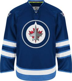 Winnipeg Jets Official Home Reebok EDGE Authentic NHL Hockey Jersey (Made In Canada)