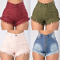 Fashion Women Summer High Waist Denim Jeans Beach Pants Hot Casual Short Shorts in Clothing, Shoes & Accessories, Women's Clothing, Shorts Short Outfits, Summer Outfits, Casual Outfits, Cute Outfits, Outfits 2016, Beach Outfits, Beach Attire, Beach Dresses, Casual Shorts