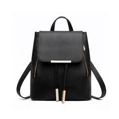 Fashion Women Backpack High Quality PU Leather Mochila Escolar School Bags For Teenagers Girls Top-handle Backpacks  Travel Bags