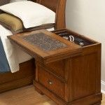 Sliding Top Secret Compartment Nightstand