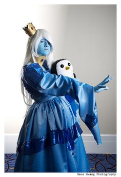 Ice Queen and Gunther (Adventure Time) #KatsuCon2013 #Rule63