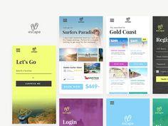 Travel App UI Concept Screens