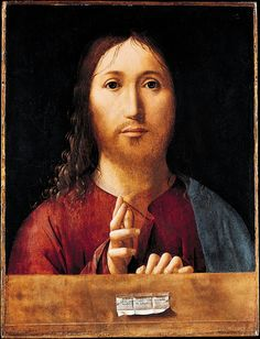 Antonello da Messina,  Salvator Mundi