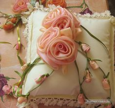ribbon flowers flores de tela