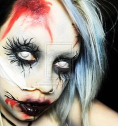 Technically a zombie but... remove the blood and it would be a really cool creepy sorceress. #halloween #makeup