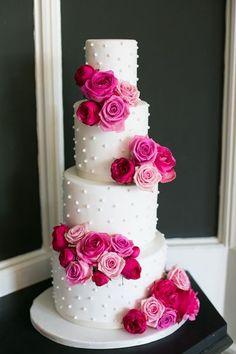wedding cake grey cerise pink - Google Search
