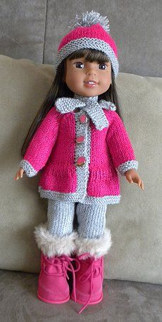 dollie-clothes – Sharon Stevens dollie-clothes Coat, pants, hat and scarf for American Girl dolls — free pattern Knitting Dolls Clothes, Baby Doll Clothes, Crochet Doll Clothes, Sewing Dolls, Doll Clothes Patterns, Knitted Doll Patterns, Knitted Dolls, Knitting Patterns Free, Free Knitting