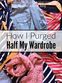 I recently decluttered my closet and purged about half of my wardrobe! Now my wardrobe is so much easier to manage and I love what I wear more! Here are 3 key things that helped me to radically simplify my wardrobe.