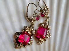 Georgian gold and ruby earrings