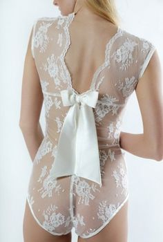 Aida Ribbon Bodysuit ~ by Sonata #Lingerie