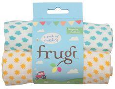 Frugi Lovely Sunny Days Muslin Cloths - 2 Pack - Frugi