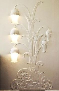 Art Deco Plaster sculpture with light inserts...cool!